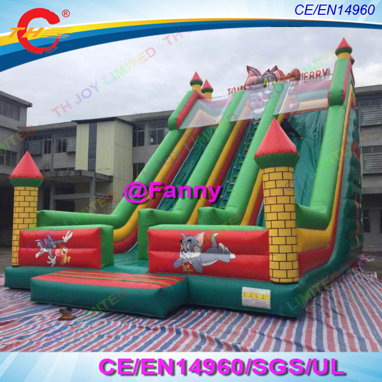 Giant Inflatable Slide With Bouncy Playground Big