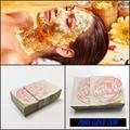 100PCS Thailand Anti-Aging 24K Gold Foil Leaf  Mask Moisturizing Facial Gold Foil Sheets Masks Beauty SPA Equipment