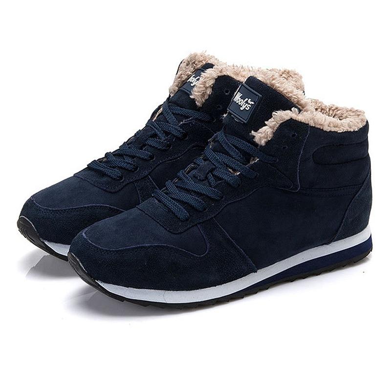 Nouveau Up D'hiver Hommes Casual 2018 Lakeshi Peluche Dentelle Taille Sneakers En Plus Chaussures blue Chaud Black Marque 46 H5qvv