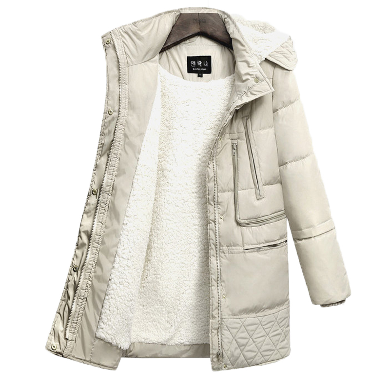 FTLZZ 2018 Winter Women Hooded Coat Thicken Warm Jacket Wool Long Parkas Female Plus Size 3xl Outerwear Ladies Chaqueta Feminino