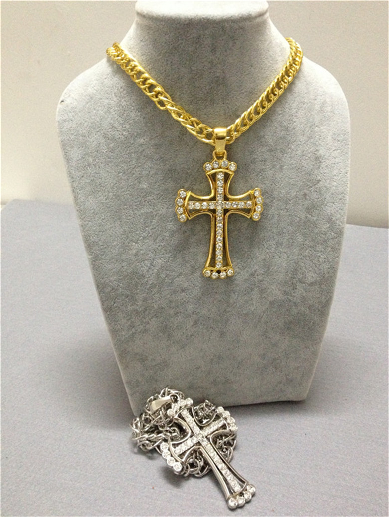 Mcsays hip hop necklace crystal mini jesus cross rhinestone pendant mcsays hip hop necklace crystal mini jesus cross rhinestone pendant link chain alloy necklace hipster christian jewelry gift in pendant necklaces from aloadofball Choice Image