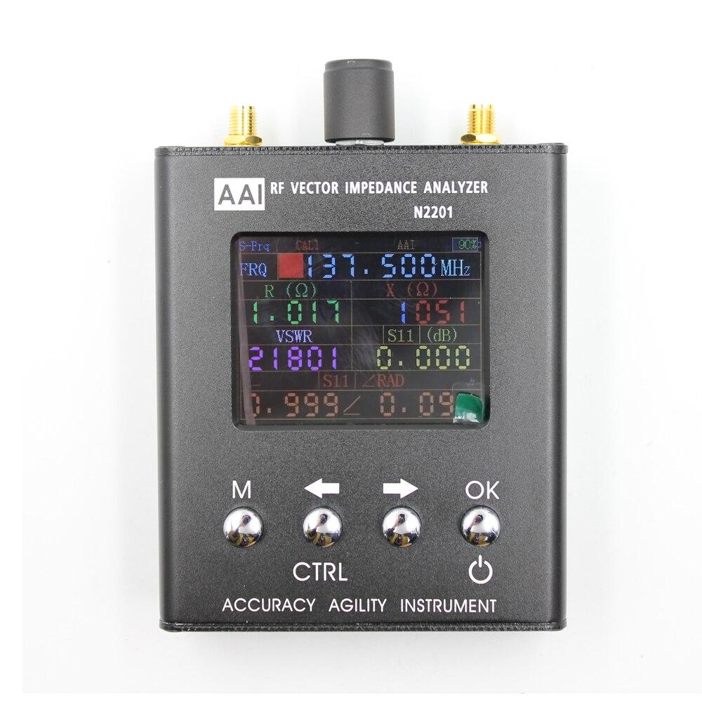 2018 Nuovo Arrivo N2201SS 140 mhz-2.7 ghz UV RF ANT SWR Antenna Analyzer Tester del Tester Radio tester aggiornamento verison di N1201SA