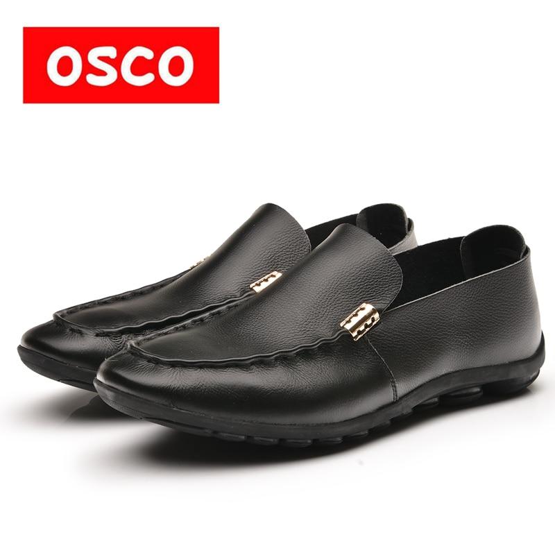 OSCO  Factory direct ALL SEASON New Men cow leather Shoes Fashion Men slip on Casual loafers and driver Shoes #RUA3520 пена бытовая mastertex all season 300 мл всесезонная