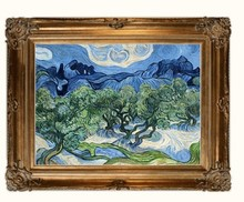 Trees with the Alpilles by Vincent Van Gogh Handpainted