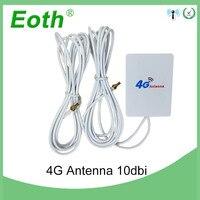 20 штук 3g 4G LTE антенны 10dbi с CRC9 разъем внешний панелью Antena 2 м кабель для huawei LTE модем маршрутизатор avec antenne