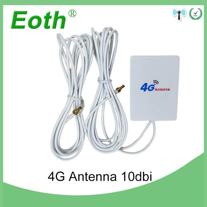 20 pièces 3G 4G LTE Antenne 10dbi avec CRC9 connecteur mâle Externe Panneau Antena 2 m câble pour huawei LTE modem routeur avec antenne
