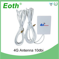 20pcs 3G 4G LTE Antenna 10dbi with CRC9 male Connector External Pannel Antena 2m cable for Huawei LTE Router modem avec antenne