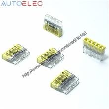 100Pcs  2273 205 mini pushfit Connectors COMPACT 5x2.5qmm CAGE CLAMP CONNECTION Push wire Connector for Junction Boxes