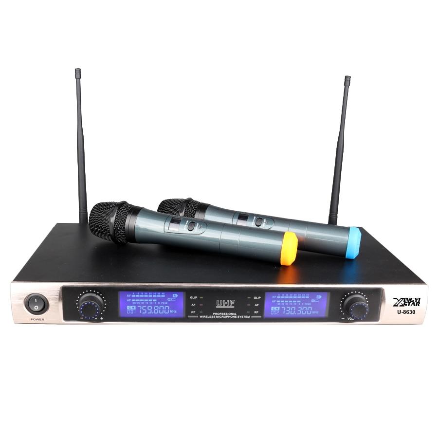 Sistema inalámbrico de micrófono inalámbrico UHF Karaoke Dinámico - Audio y video portátil - foto 2