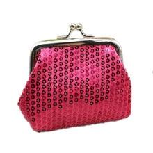 New Ladies Wallet Sequin Coin Purse Small Fresh Art Solid Color Purse Coin Purse Mini Convenient Key Wallet Earphone Storage Box стоимость