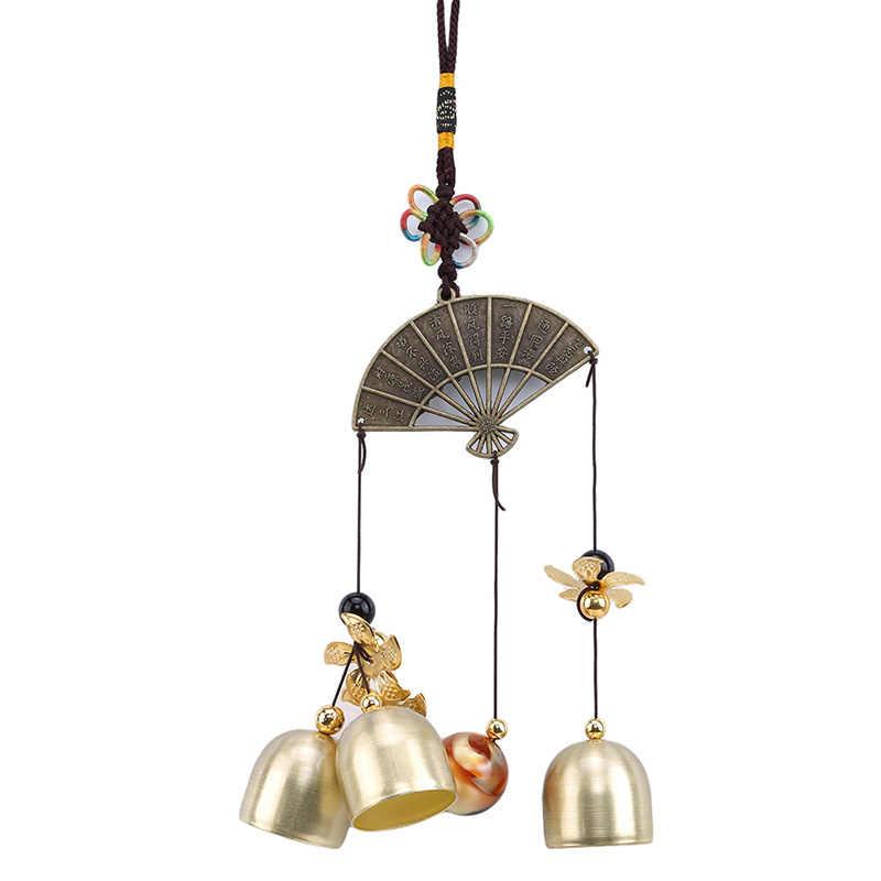 Открытый бронзовый сад для гостиной украшения колокольчики в китайском стиле Chime с стихотворением кавитация на Вентилятор Мульти трубы