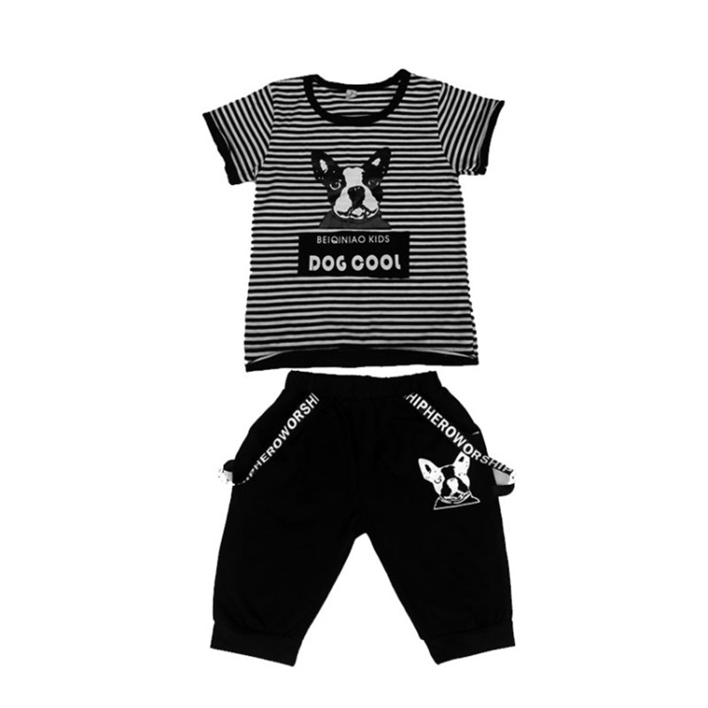 Boys sets 2018 summer children clothing two pieces striped print sets kids 3 4 5 6 10 years baby boy suit children's clothing summer autumn boys clothing sets kids boys shirts vest long pant tie children cotton fore pieces clothing sets for 2 3 4 5 6 7 y