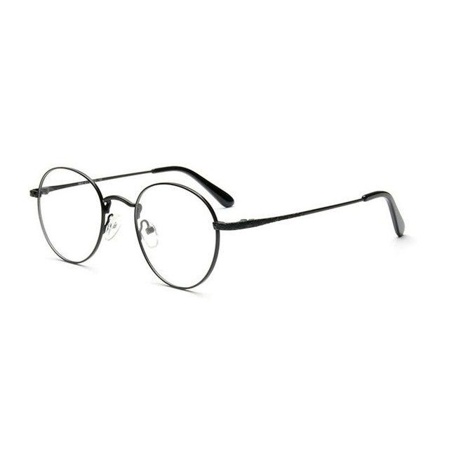 a114035dc44a9 MINCL 2017 New Designer Woman Glasses Optical Frames Metal Round Glasses  Frame Clear lens Eyeware FML