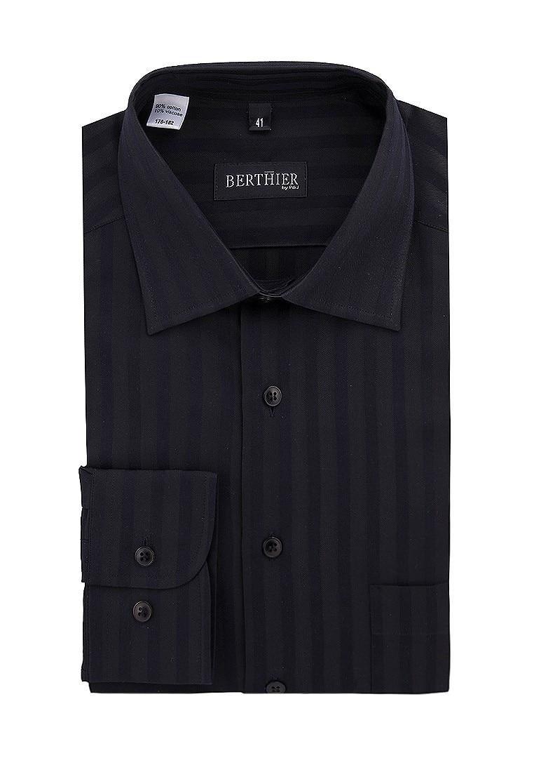Shirt men's long sleeve BERTHIER Nunio 35555 Black arsuxeo men s cycling polyester spandex long sleeve jacket black fluorescent green l