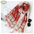 1PC 180*100cm 2017 Spring New Style Acrylic Cotton Women Fashion Long Tassels Scarf Woman New Viscose Cotton Pashminas