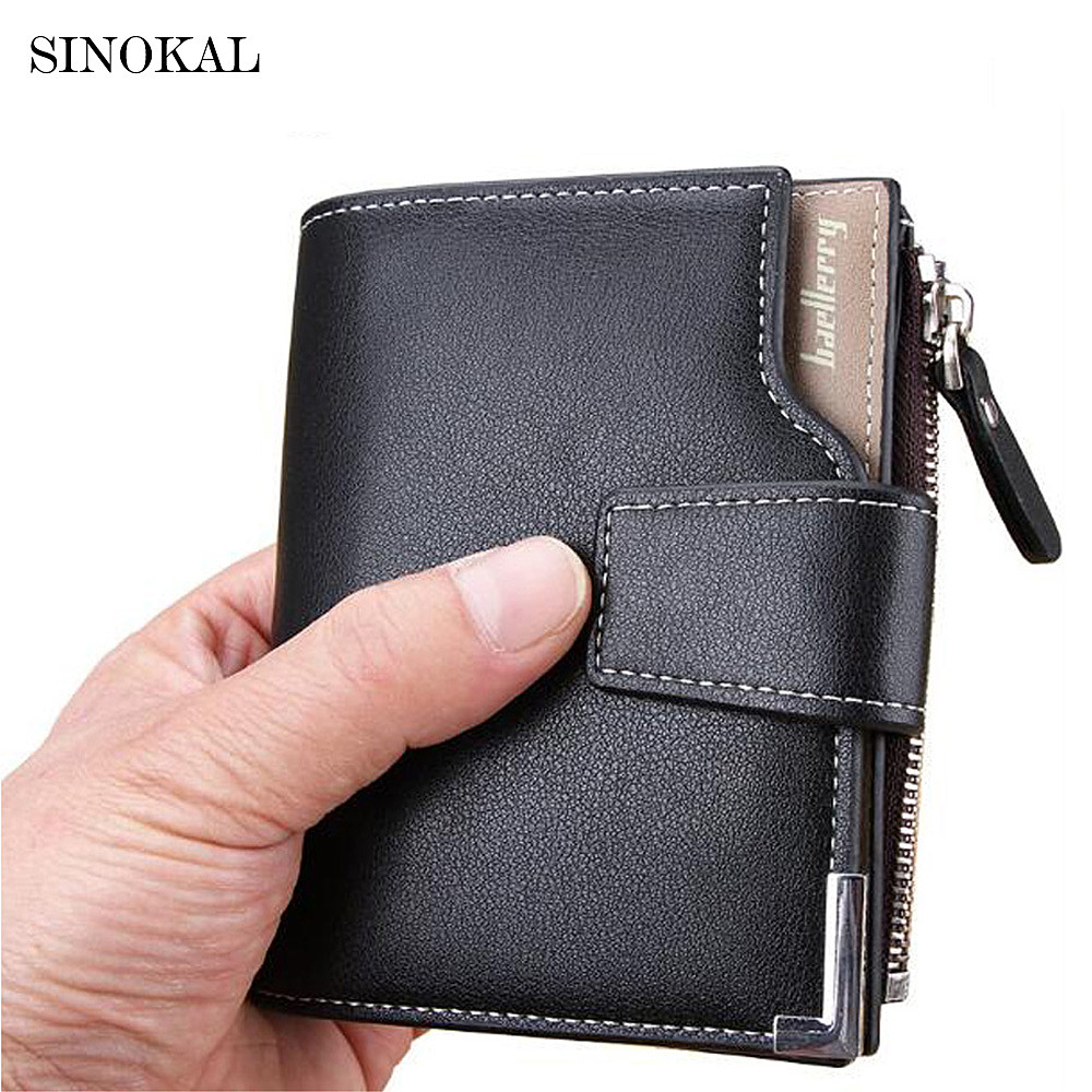 2017 New Arrival Man Short Leather Wallet Multifunctional Zipper hasp Business men luxury purse money clips Credit Card Dollar macygraymg real crocodile leather wallet man purse business purse men leisure wallet men short wallet