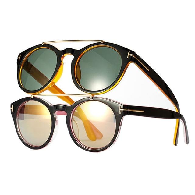 dd05378fedabc New Arrival Fashion Vintage Designer Sunglasses For Men Women Metal Top Bar  Round Frame Sun Glasses Brand Oculos De Sol 6 Color