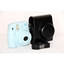 Colorful Camera Hard Bag Portable and Lightweight Video Photo Cover Case with PU Shoulder Strap for Fuji Instax MINI8