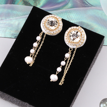 CocoANGEL Natural Color Zircon Stone Fresh Water Pearl Crystal Copper & Electroplating Drop Earring Fashion Design For Women