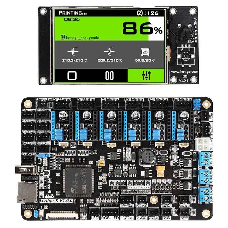 3D บอร์ดเครื่องพิมพ์แขน 32Bit Controller เมนบอร์ดสำหรับ 3D เครื่องพิมพ์ Mainboard Contact หน้าจอชุด Diy Ntc100K Pt100