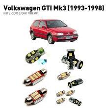 Led interior lights For volkswagen gt-i mk3 1993-1998  11pc Led Lights For Cars lighting kit automotive bulbs Canbus цена