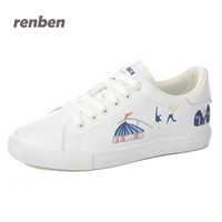 RENBEN Casual Women Shoes Fashion Women Microfiber Flats Shoes Breathable Summer Women Graffiti Loafers Shoe 6e76