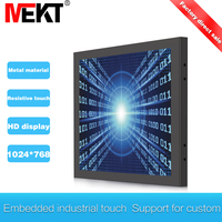 Industrial 15 inch resistive touch display embedded LED LCD display panel waterproof usb monitor computer monitors