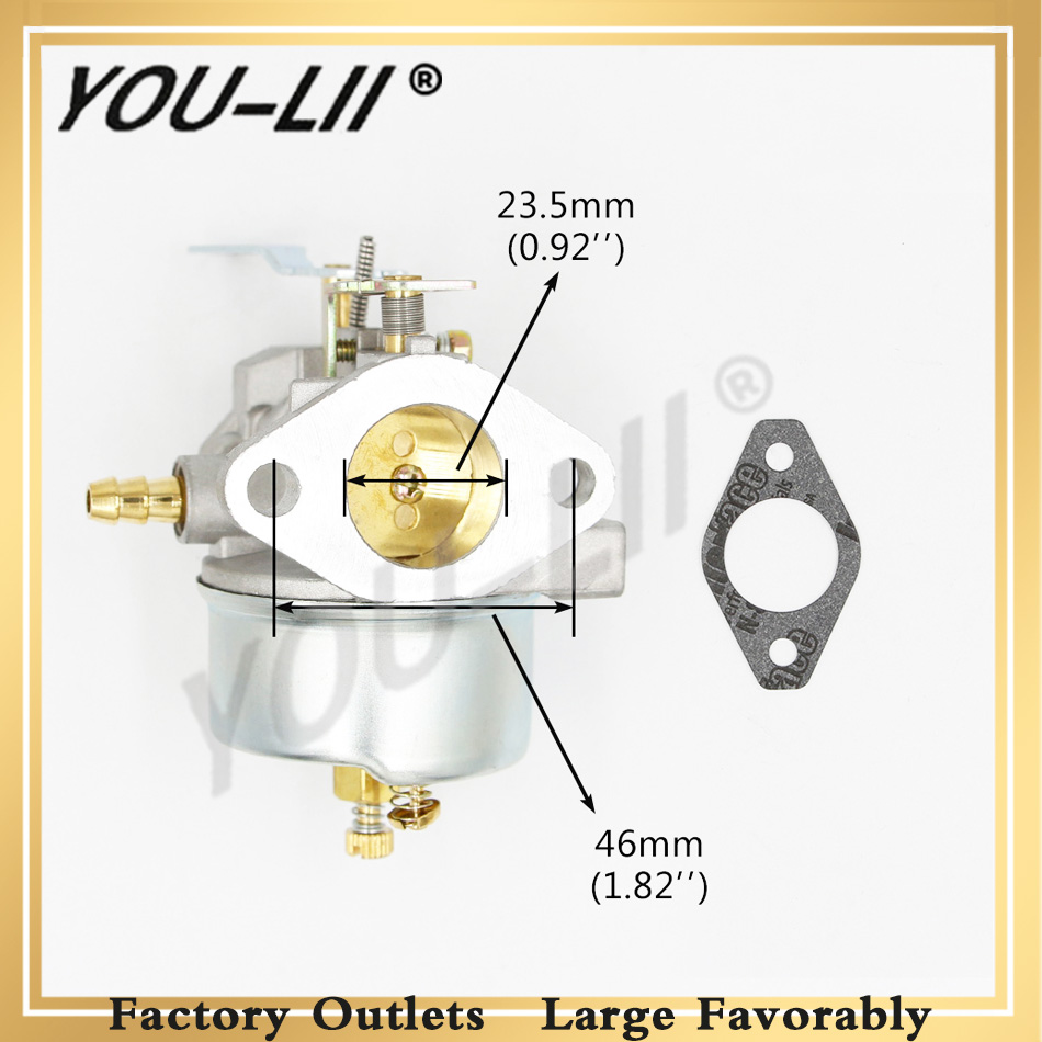 YOULII Brand New Carburetor For Tecumseh 632370A 632370 632110 Carb Lawnmower Blowers HM100 HMSK100 HMSK90 Chainsaw