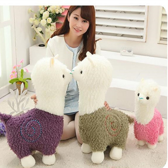 Hot Kawaii Alpaca Plush Toy Soft Stuffed Animal Lama Pacos Brinquedos Doll for Kids Birthday Gift Home Soft Sofa Cushion lovely 35cm rainbow alpaca vicugna pacos lama arpakasso alpacasso stuffed plush doll toy kid gift