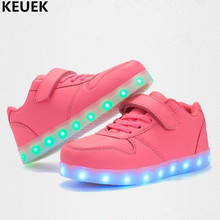 New Children Glowing Shoes Charging Light Boys Girls Luminous Dance Student Sports Sneakers Kids Baby  Lighted 018