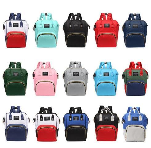 USB Diaper Bag For Mom Fashion Travel Backpack For Women Bolsa Maternidade