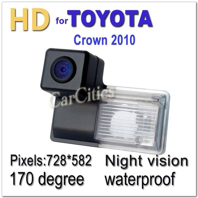 CCD HD  Parking camera Wired170 degree for Crown 2010 Waterproof shockproof Night versioncar camera Size:67.2*49.8*39.4mm