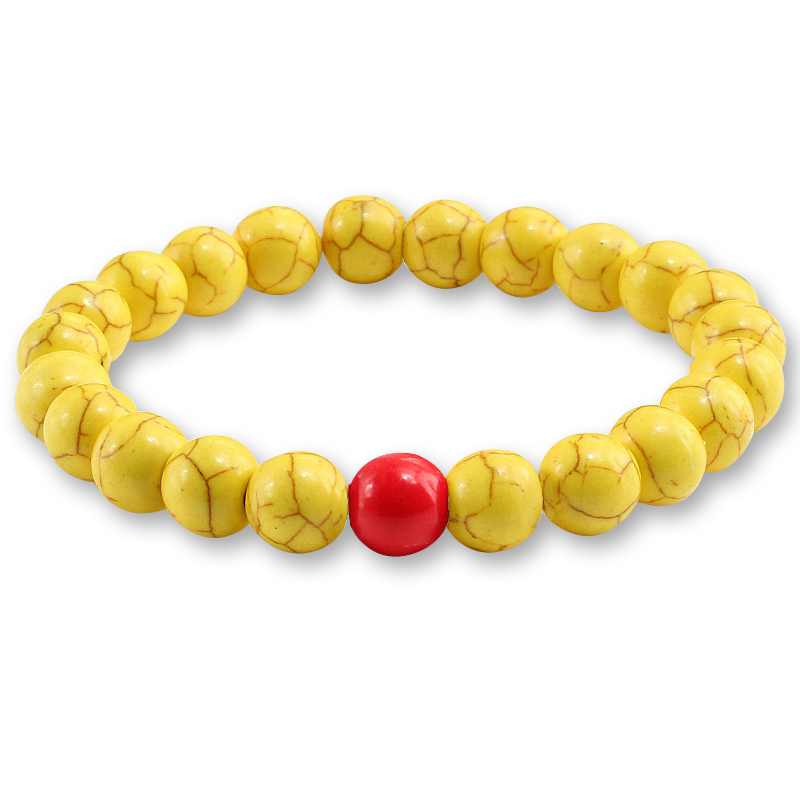 Trendy Yellow Natural Stone Beads Charm Bracelets & Bangles for Women Round Beaded Strand Bracelet Men Jewelry Pulseira Feminina 3