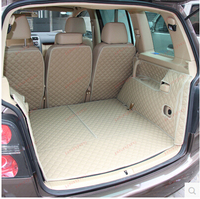 Good mats! Special trunk mats for Volkswagen Touran 7 seats 2014 2004 boot carpets cargo liner mat for Touran 2008 Free shipping|trunk mat|cargo liner|boot carpet -