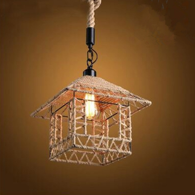 Hemp Rope Twine Retro Antique E26 / E27 Base Pendant Light Fixtures MS - 17 ...