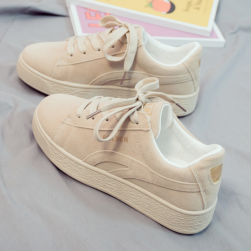 2019 Solid Beige Black Canvas Shoes Women Spring Lace Up Ladies Vulcanize Shoes Breathable Traveling Women Sneakers A3A-77