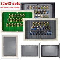 Big Size Display Case/Box with Dustproof Board 32*48 Dots Base Plate DIY Building Blocks Parts Compatible Legoingly Figures