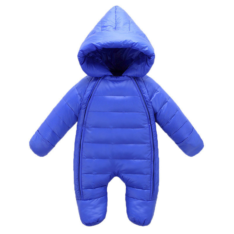 Baby Rompers Winter Warm Baby boy Clothes Long Sleeve Hooded Jumpsuit Kid Newborn Outwear Children Snowsuit Jumpsuit warm thicken baby rompers long sleeve organic cotton autumn