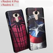 Redmi 4 Case Cover Xiaomi Mi Redmi 4 Pro Case Silicon 3D Slim Spiderman Cartoon Soft Relief Protective Coque Fundas Skin Etui