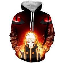 YX GIRL 3D Print Anime Naruto Mens Hoodies Sweatshirt With Hat Pocket Men Autumn Spring Tracksuit Pullover Dropshipping