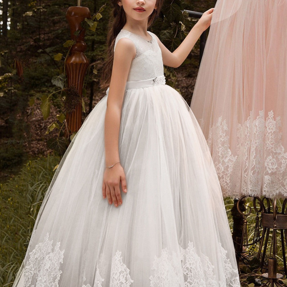 Fashion Tulle Little Princess   Flower     Girls     Dresses   for Wedding Party