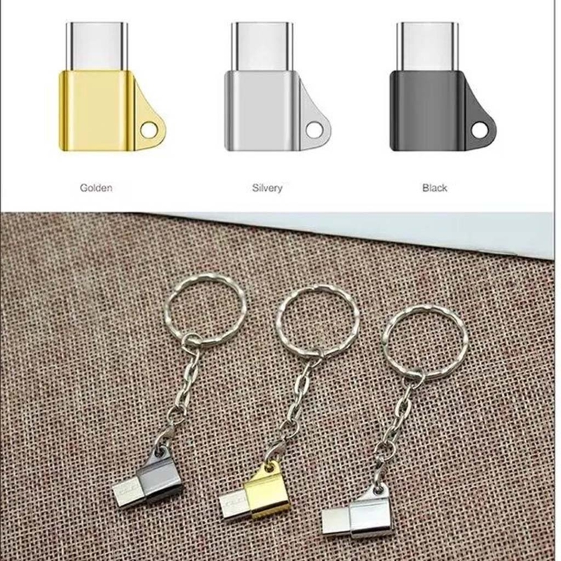 USB C 3.1 Type C Male To Micro USB Female Converter Connector Keychain For Phone 2019 New