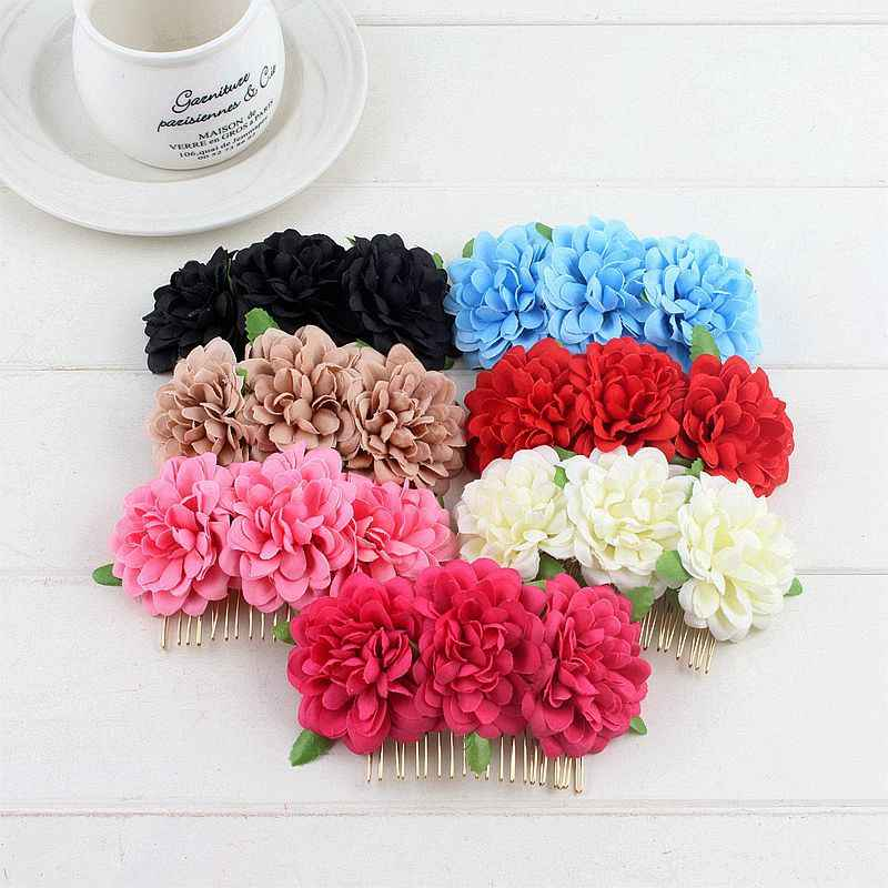 New Bohemian Hairpin Brides Wedding Hair Clips Combs Flower Bridesmaid Headdress DIY Hair Accessories For Women Girls