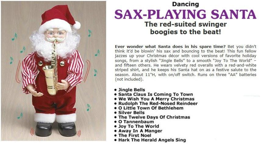 Dancing Santa- Saxphone Player