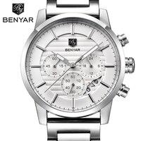 BENYAR 2017 Men Watches Brand Luxury Men Military Wrist Watches Full Steel Men Sports quartz Watch Waterproof Relogio Masculino