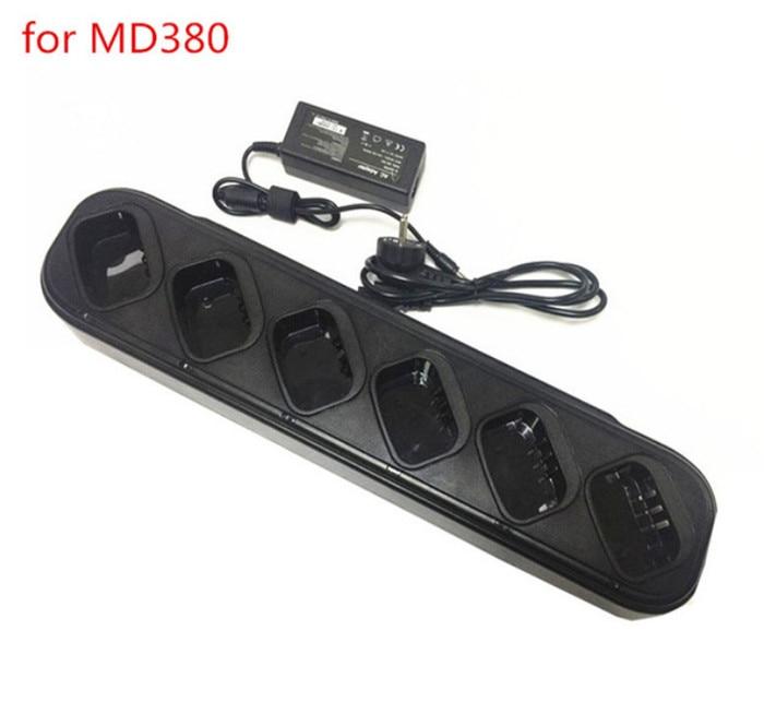 6 y 1 cargador de 110-220 V for TYT MD380 MD280 walkie talkie6 y 1 cargador de 110-220 V for TYT MD380 MD280 walkie talkie