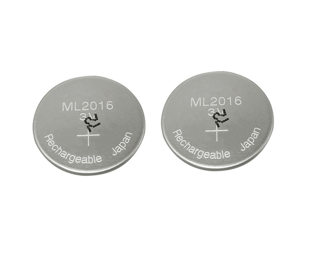 2pcs/lot New Original ML2016 ML 2016 3v Li-Ion Lithium Ion Rechargeable Coin Cell Button CMOS RTC Battery Batteries