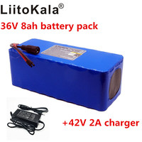 Liitokala 36 V 8AH elektrische auto fiets scooter lithium batterij hoge capaciteit + 42 V 2A charger