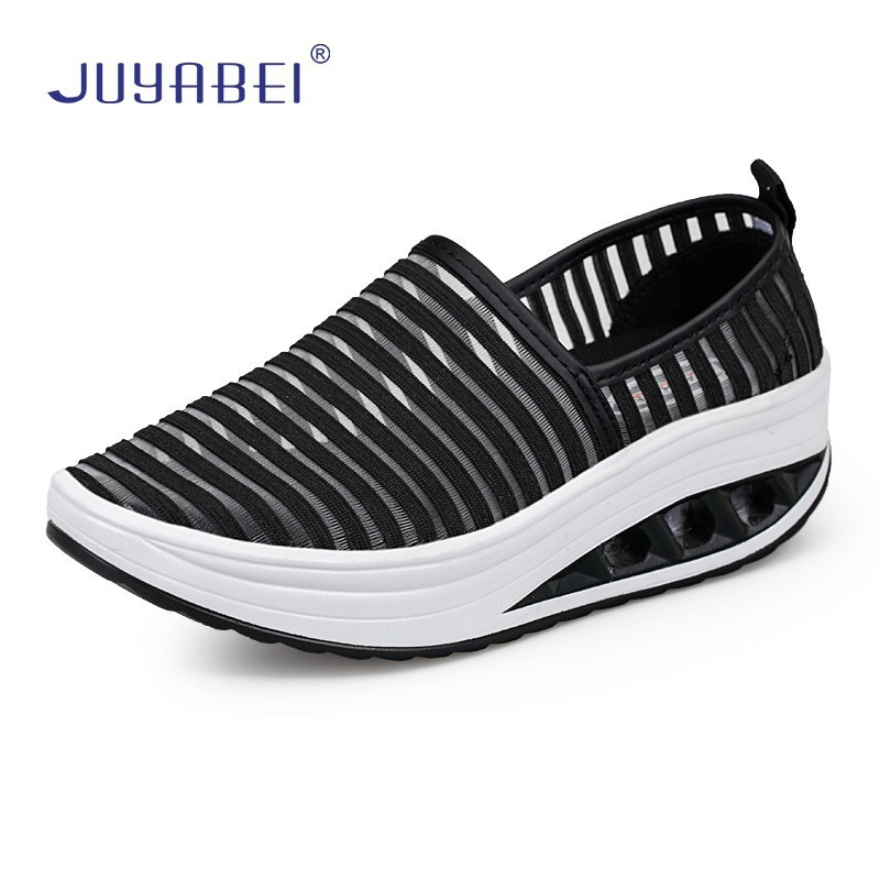 Striped Nurse Shoes Mesh Breathable Platform Medical Shoes Women Hospital Laboratory Beauty Salon Pharmacy Clinic Work Shoes