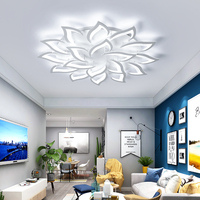 AC85V ~ 260 В современный светодио дный потолочные светильники для Гостиная Спальня творчества цветок Тип светильники Потолочный светильник Бе